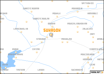 map of Suwadów