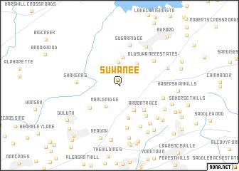 map of Suwanee
