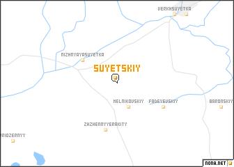 map of Suyetskiy