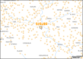 map of Švajba