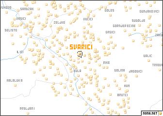 map of Švarići