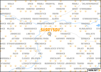 map of Svaryšov