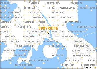 map of Svay Riĕng