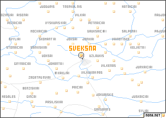 map of Švėkšna