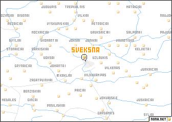 map of Švėkšna