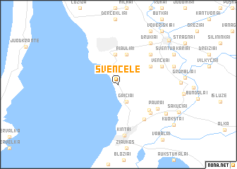 map of Svencelė