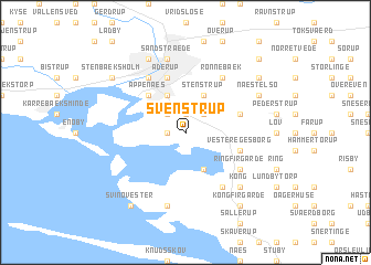 map of Svenstrup