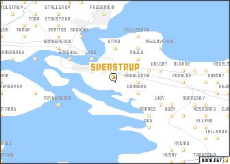 map of Svenstrup