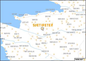 map of Sveti Peter