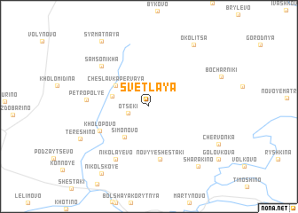 map of Svetlaya