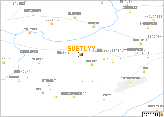 map of Svetlyy