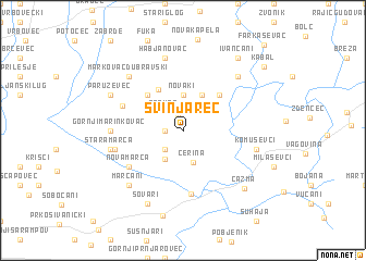 map of Svinjarec