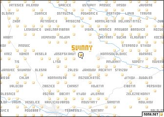 map of Svinný