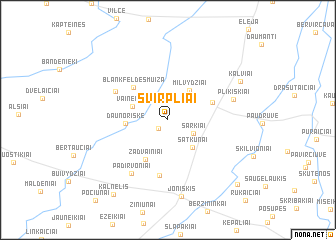 map of Svirpliai