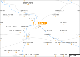 map of Svitazev