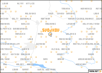 map of Svojkov
