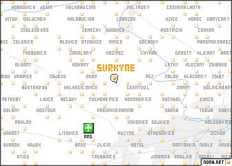 map of Svrkyně