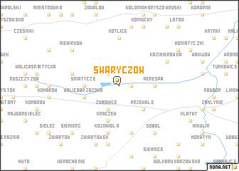 map of Swaryczów
