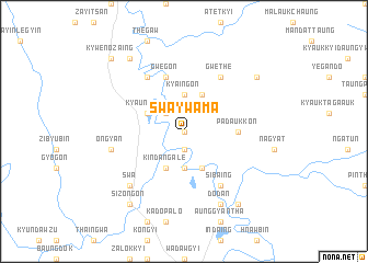 map of Swa Ywama