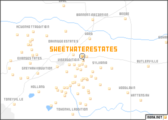 map of Sweetwater Estates