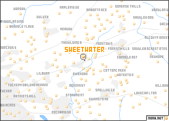 map of Sweet Water