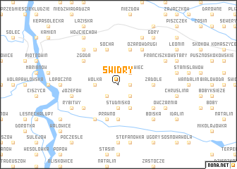 map of Świdry