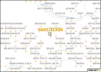 map of Świeciechów