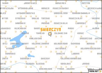 map of Świerczyn