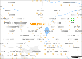 map of Świerklaniec