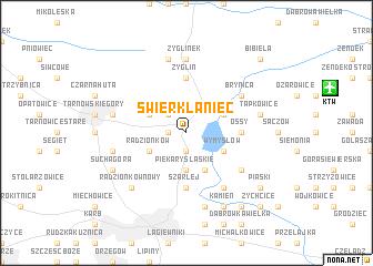 map of Świerklaniec