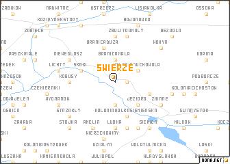 map of Świerże