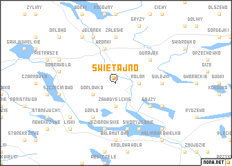 map of Świętajno