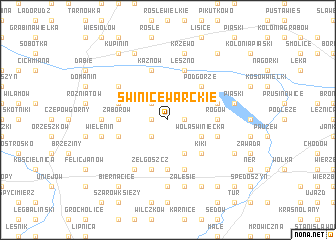 map of Świnice Warckie