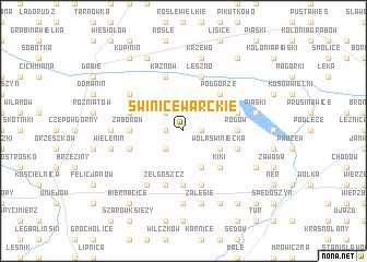 map of Świnice Warckie