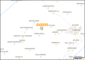 map of Swoope