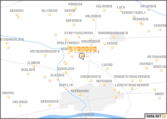 "map of S""yanovo"