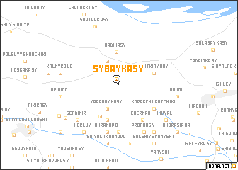 map of Sybaykasy