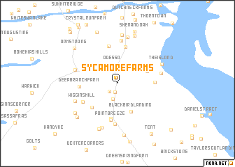 map of Sycamore Farms