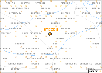 map of Syczów