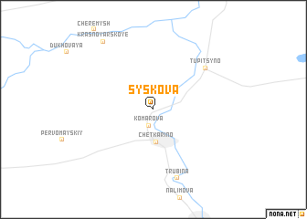 map of Syskova