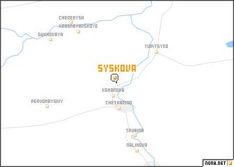 map of Syskova