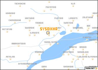 map of Sysoikha