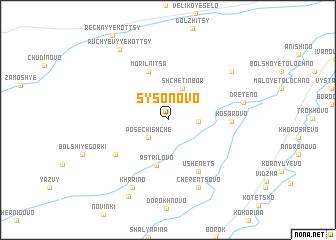 map of Sysonovo