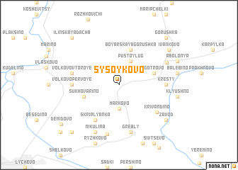 map of Sysoykovo