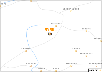 map of Sysul