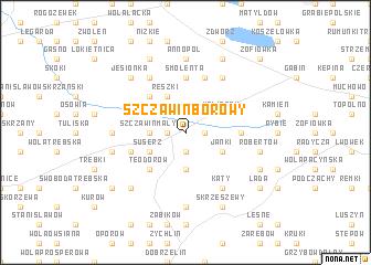 map of Szczawin Borowy