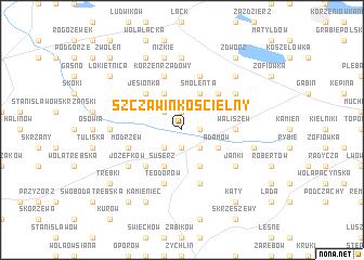 map of Szczawin Kościelny