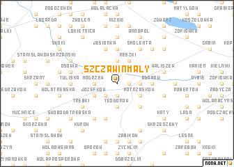 map of Szczawin Mały