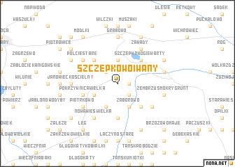 map of Szczepkowo Iwany