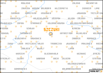 map of Szczuki